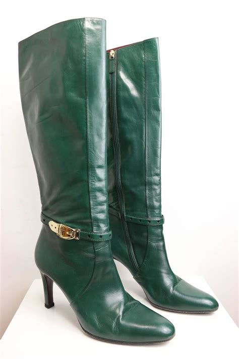 gucci boots sale gucci green leather boots for sale at 1stdibs