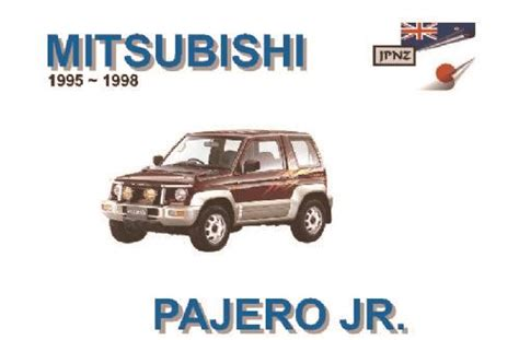 service and repair manuals 1995 mitsubishi pajero engine control mitsubishi pajero junior 1995 1998 owners manual engine model 4a31 9781869762605