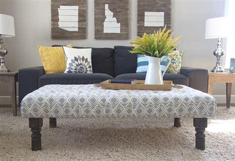 Decorating Living Room With Cool Ottoman Coffee Table Ottoman Coffee Tables Living Room