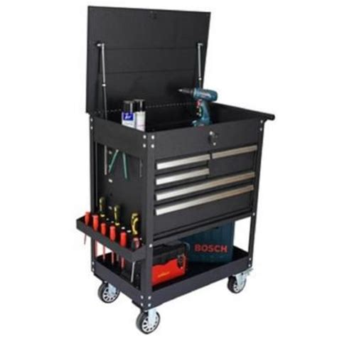 Five Drawer Tool Cart by 31 In 5 Drawer Tool Cart Black Tc309 The Home Depot