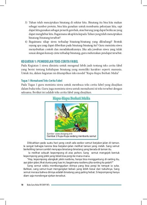 membuat jurnal membaca cerita fantasi buku guru bahasa indonesia kelas 8