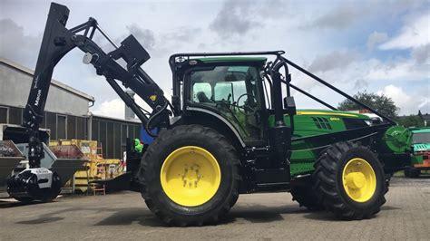 deere werkstatt 220 bergabe traktor jd6155r 202ps mit ritter forstaufbau