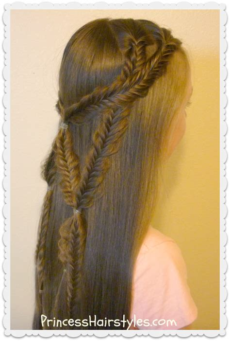 tie back hairstyles angel wings fishtail braid tie back hairstyle