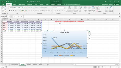 in the tutorial name an embedded chart in excel tutorial