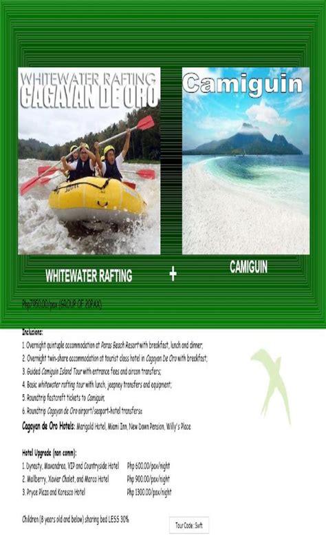 philippine cagayan de oro  camiguin promo  packagezipline  cagayan de ororiver