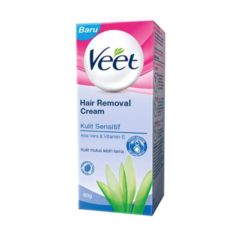 Veet Hair Removal Veet Krim Menghilangkan Bulu 60g 60gr 60 Gram jual veet aloe vera and vit e for sensitive skin hair