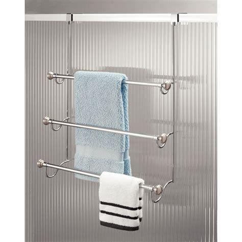 The Door Towel Rack by Interdesign York Metal The Door 3 Bar Towel Rack
