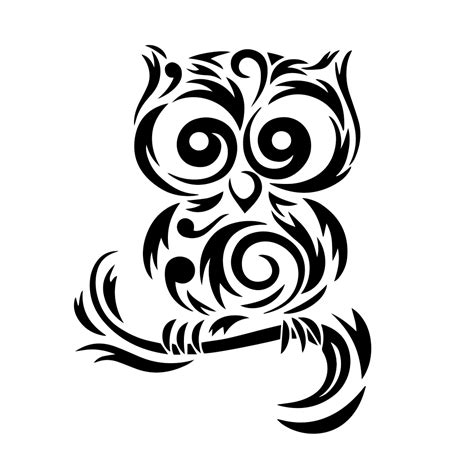 Owl Wall Stickers tribal cute owl silhouette vinyl sticker car decal