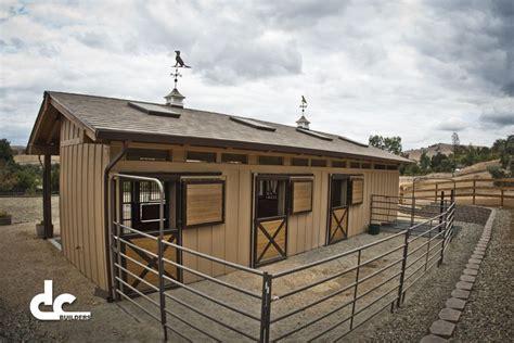 san francisco bay area custom shed row barn at the farm