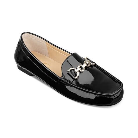 marc flat shoes marc fisher mars fisher shoes aris moc flats in black lyst
