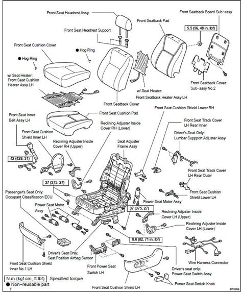 2006 toyota camry seats wiring diagrams wiring diagram