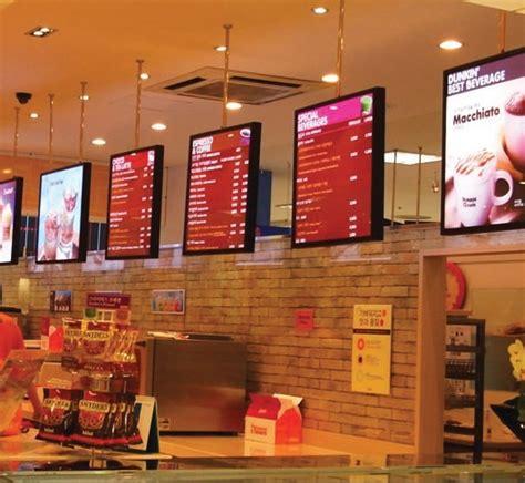 dunkin donuts light menu 15 best menu board images on digital menu