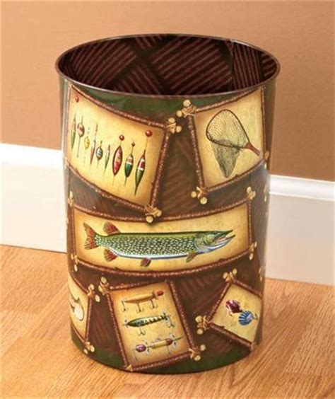 decorative wastebasket decorative wastebasket trash can antique fishing lure or
