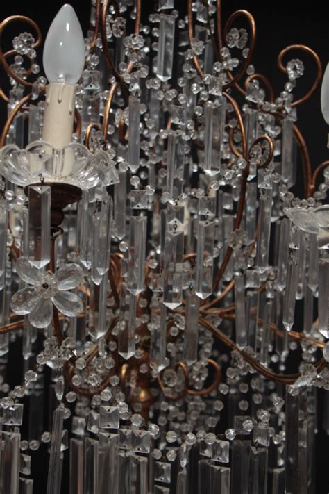 Decorative Chandelier In Crystal Italy 1940 Chandeliers Decorative Chandelier