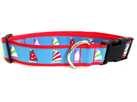 preppy collars the preppy quot pacific sailboat quot collar pawsitive style