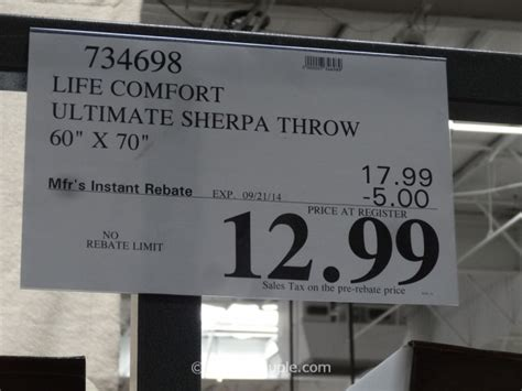 life comfort sherpa throw costco life comfort ultimate sherpa throw