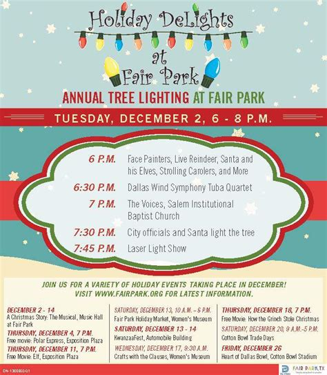 christmas lights at fair park dallas free city of dallas annual tree lighting festival dec 2