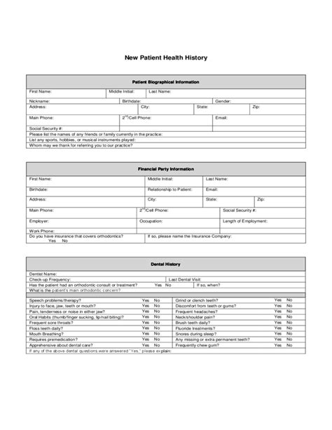 Top 28 Patient Health History Questionnaire Form Best Photos Of Dental Medical History Form New Patient Health History Form Template