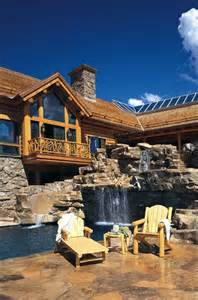 Luxury Log Cabin Homes with Pool