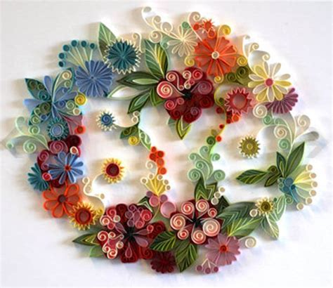 Paper Craft Of Flowers - unique paper craft ideas and quilling designs from