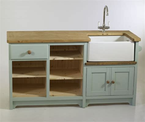 painted free standing kitchen belfast sink unit cupboards solid wood free standing unit for a reclaimed belfast sink