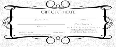 hotel gift certificate template restaurant gift certificate design marketing archive