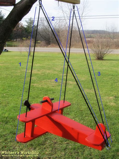 childs airplane swing woodworking furniture plans easy