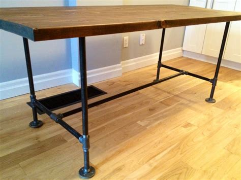 diy plumbing pipe table great details including supply list for a diy table with