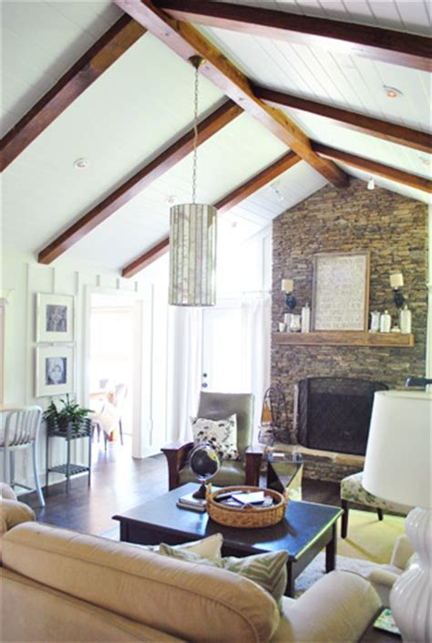 vaulted ceiling with beams love the vaulted ceiling beams tongue and groove