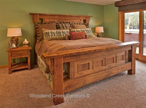 barnwood bedroom furniture reclaimed wood rustic