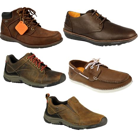 mens genuine timberland casual lace up slip on leather