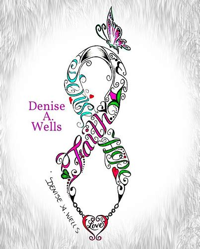 the word hope tattoo designs faith ribbon design by a