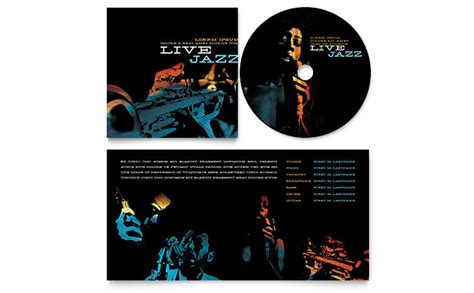 jazz music event cd booklet template design