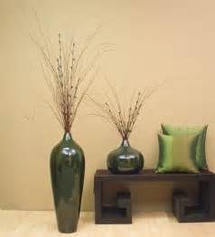 decorative vases 24 quot bamboo pod floor vase emerald