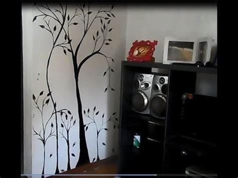 make wall decorations at home diy how to make a wall mural painting home decoration