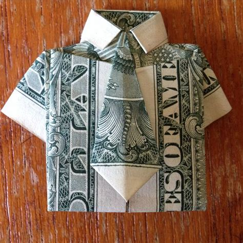 Shirt Money Origami - dollar bill origami shirt and tie