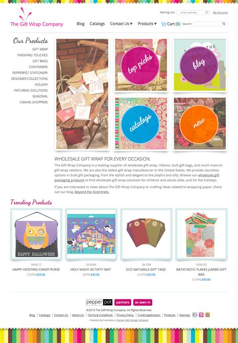 website design study the gift wrap company fusionbox - Websites That Gift Wrap
