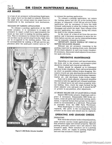 Pd 4106 Gm Bus Coach Supplement Service Maintenance Manual