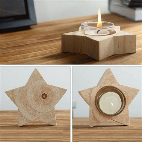 Home Decor Candle Holders by Pine Wooden Votive Candle Holder Dreamy Unique Candlestick