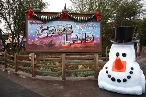 cars land gets gussied up for the holidays at disney california adventure park 171 disney parks