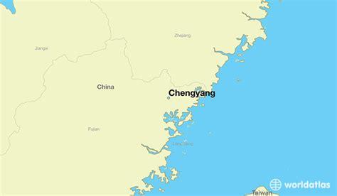 chengyang china chengyang fujian map worldatlascom