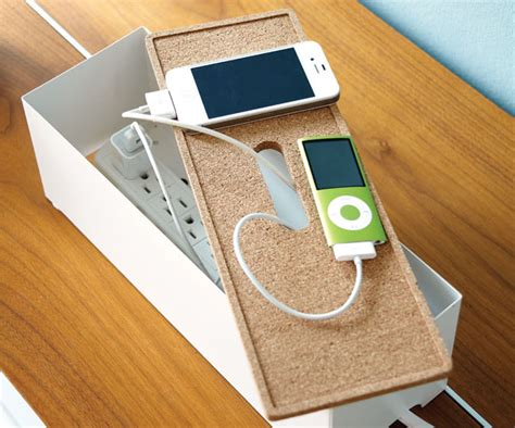 ikea charging station organizing tip designate a phone charging hot spot