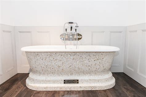 Churchill Bath with Mother of Pearl Mosaic Exterior