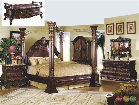 Marble Bedroom Furniture Sets Traditional Canopy Bed Marble Bedroom Set Shop Factory Direct