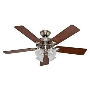 Indoor Ceiling Fans With Lights Shop Westminster 5 Minute Fan 52 In Brushed Nickel