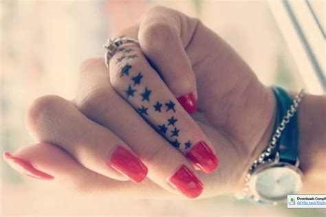 finger tattoo cute cute stars tattoo on finger infocables