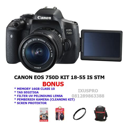 jual canon eos 750d kit ef s18 55mm is stm canon