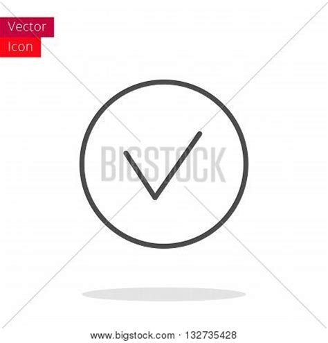 Background Check Icon Check Thin Line Icon Check Icon In Circle Vector Check Icon Check Icon Check