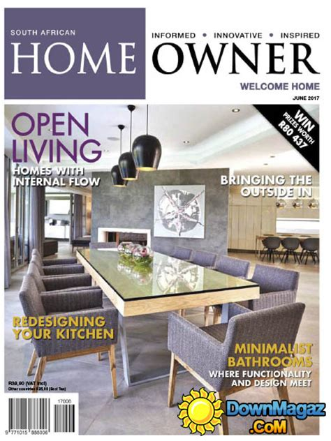 home decor magazines south africa south african home owner 06 2017 187 download pdf