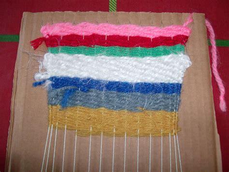 yarn craft for reuse crafts cardboard looms and yarn craft